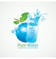 Planet Earth and a glass of clean water vector image vector image