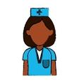 professional nurse hat uniform medical vector image vector image