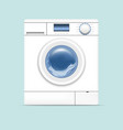 realistic detailed 3d washing machine vector image vector image