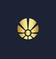 round shine shape circle gold logo vector image