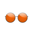 round sunglasses 3d summer sunglass shade vector image