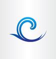 sea or ocean blue wave abstract icon vector image