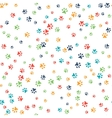 seamless pattern with cat or dog footprints vector image vector image