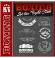 Set - Boxing World Champion Labels and vector image vector image