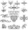 set of calligraphic design elements isolated on vector image vector image