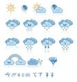 Set of weather blue icons vector image