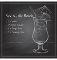 Sex on the Beach mixed drink vector image vector image