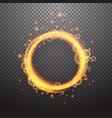 shining circle light effect design element vector image vector image