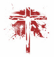 silhouette of the lord jesus christ on the cross vector image vector image