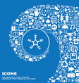 snow icon Nice set of beautiful icons twisted vector image vector image