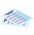 stack blank survey checklist sheets education vector image