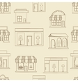 Store buildings seamless retro vector image vector image