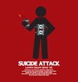 Suicide Attack With Bomb Symbol vector image vector image