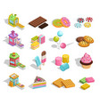 sweet goods pastry collection vector image