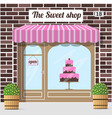 sweet shop candy store confectionery store vector image vector image