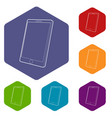 tablet computer icons hexahedron vector image vector image
