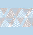 tender blue and beige christmas seamless pattern vector image vector image