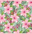 tropical pattern with feathers vector image