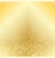 yellow gold dotted background vector image vector image