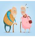 happy grandparents funny cartoon characters vector image