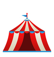 Open circus stripe tent isolated on white vector image