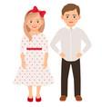 cute cartoon fashion kids couple vector image