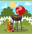 a barbecue party poster vector image vector image
