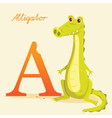 A for Alligator vector image