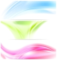 Abstract colorful wavy banners vector image vector image