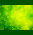 abstract green circular bokeh background vector image