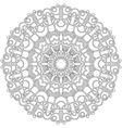 adult coloring book spring mandala black and white vector image vector image