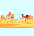ancient warriors background vector image vector image