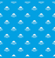bakery pattern seamless blue vector image vector image