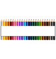 banner design with twenty four color pencils vector image vector image