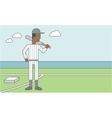 Baseball player man vector image vector image