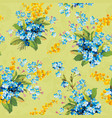 beautiful floral seamless pattern abstract vector image