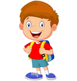 Boy with backpacks vector image