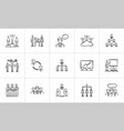 Business hand drawn sketch icon set vector image