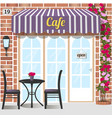 cafe or coffee shop vector image vector image