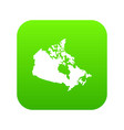 canada map icon digital green vector image