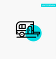 caravan camping camp travel turquoise highlight vector image vector image