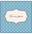 Carriages blue background with banner and frame vector image vector image