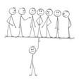 cartoon man manager or leader easily balancing vector image