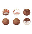chocolate round candy vector image vector image