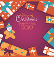christmas presents gifts with cookies cartoon and vector image vector image