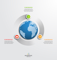 circle infographic template with globe 3 options vector image vector image