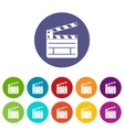 Clapperboard set icons vector image vector image