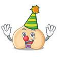 Clown chickpeas mascot cartoon style