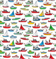 Colourful seamless marine pattern vector image vector image