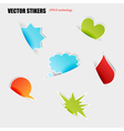 cut stickers vector image vector image